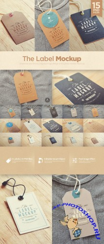 CreativeMarket - Tags / Labels Mockup 56718