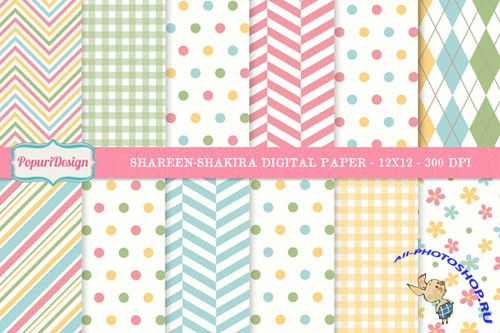 CreativeMarket - Shareen-Shakira Digital Paper 6945