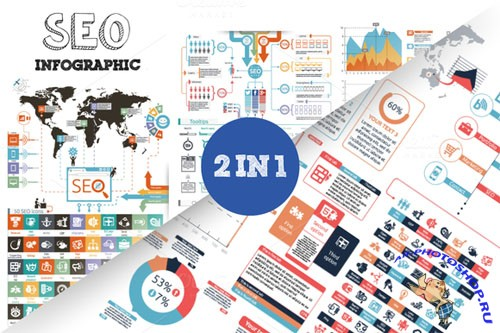 CreativeMarket - SEO Infographic Bundle 81847