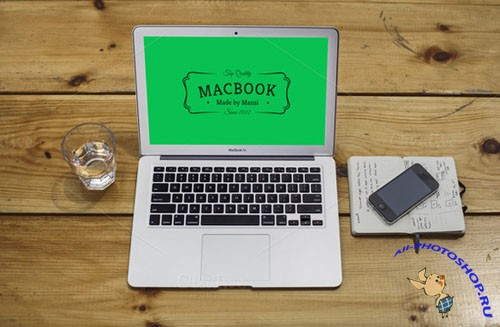 CreativeMarket 89294 - MacBook Air Mockup 2