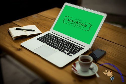 CreativeMarket 89291 - MacBook Air Mockup 3