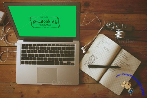 CreativeMarket 89478 - MacBook Air Mockup 4