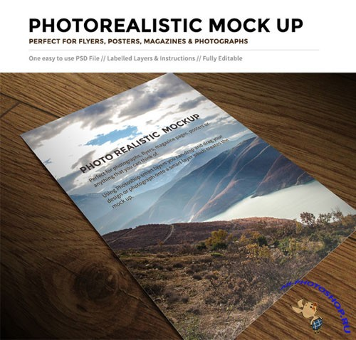 CreativeMarket - Mockup for Flyer, Poster or Magazine