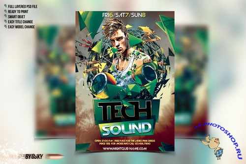 CreativeMarket - Tech Sound Flyer