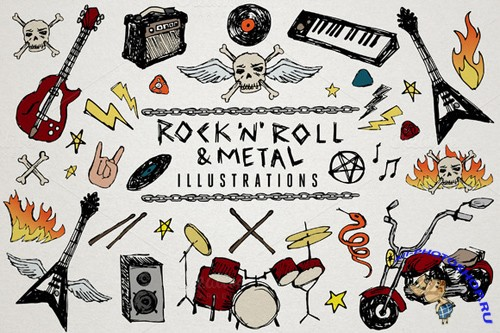 Rock n Roll and Metal Illustrations