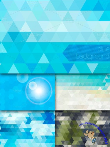 CreativeMarket - Geometric abstract backgrounds 10042