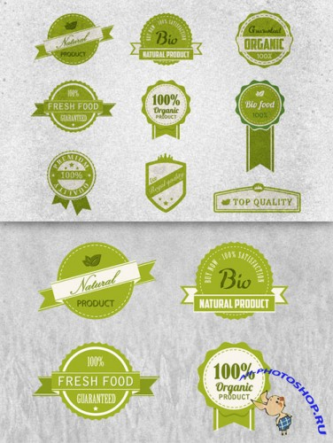 CreativeMarket - Bio Badges Vector Pack 4828