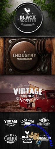 CreativeMarket 48063 - Badges & Logos Vol.06