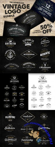 CreativeMarket - The Handmade Vintage Logo Bundle 47928