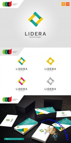 Lidera - Logo Template plus Business Card