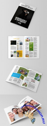 InDesign Magazine Template - Genuis Magz