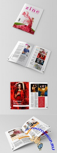 InDesign Magazine Template - Zine