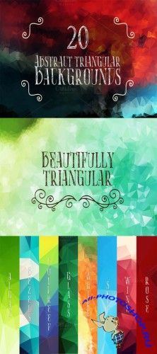 Abstract Triangular Backgrounds Set