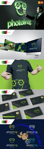 Photo Frog - Logo Template plus Business Card