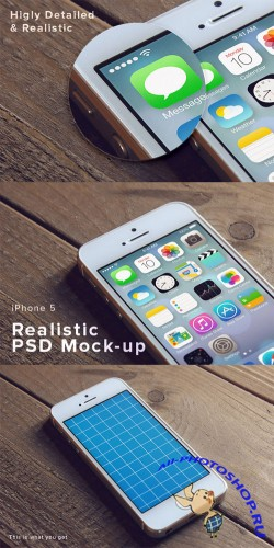 Mockup Template - iPhone 5 PSD