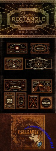 CreativeMarket - Rectangle Vintage Badges v.1