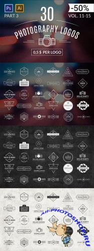 CreativeMarket - 30 Photography Logos (Vol. 11-15)