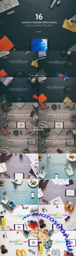 Creativemarket - 16 Hero/Header images Vol.1