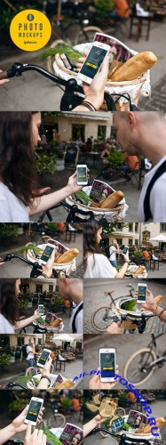 CreativeMarket - iphone 5s & bike - 8 photo mockups