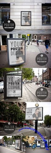 CreativeMarket - 6 POSTER design photo mockups 57079