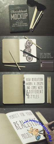 Creativemarket - The Sketchbook Mockups Pack 79551