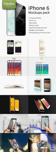 CreativeMarket - iPhone 6 / plus mockups pack 89380