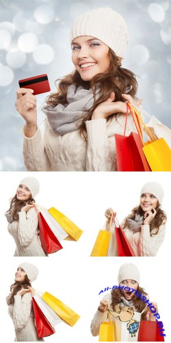 �������, ����������, ������� � ��������� / Purchase, sale, woman shopping - stock photos