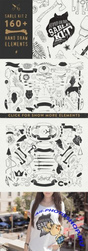 CreativeMarket - Sable Kit 2 - hand drawn collection