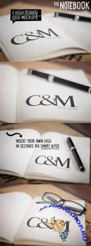 CreativeMarket - The Notebook - Creative Logo Mockups