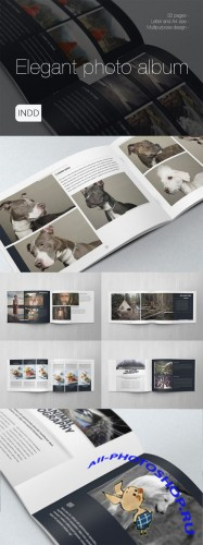 CreativeMarket - Elegant Photo Album A4 + Letter