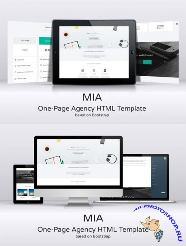 CreativeMarket - MIA One-Page Agency HTML Template