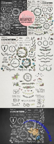 CreativeMarket - Wedding Illustrations Megapack