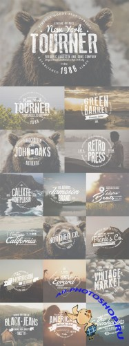 CreativeMarket - Vintage Badges & Labels Set 1