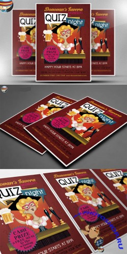 CreativeMarket - Pub Quiz Flyer Template