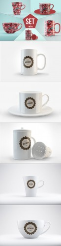 CreativeMarket - Mug Mock-Ups Set