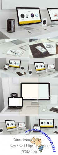 CreativeMarket - Store Mock-Up Set