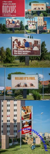 CreativeMarket - 4 Signage & Billboards mockups