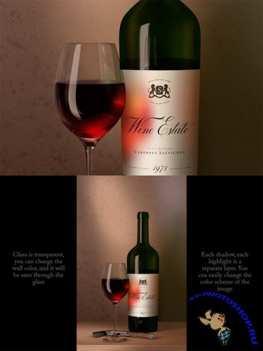 CreativeMarket - Bottle and Glass Mock-up Dutch Style