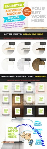 CreativeMarket - Unlimited Artwork Mockup