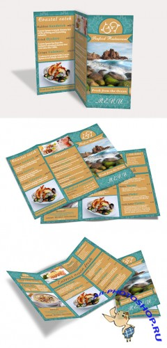 CreativeMarket - Sea Food Brochure