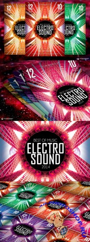 CreativeMarket - Electro Sound Flyer Template V2