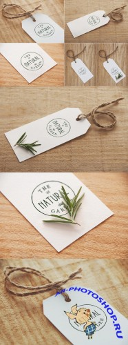 CreativeMarket - 4 Label / Logo Mock Ups