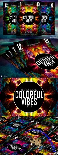 CreativeMarket - Colorful Vibes Flyer Template