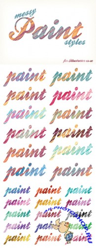CreativeMarket - Messy Paint Styles