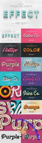 Vintage Text Effects Vol 4
