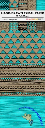 Hand Drawn Tribal Pattern Pack
