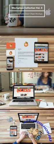 CreativeMarket - Workplace Collection Mockups Vol. 2