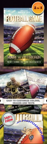 Flyers Template PSD - Football Game