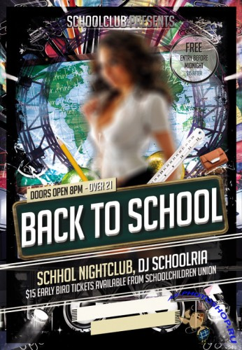 Flyer Template PSD - Back to School