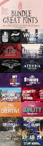 Bundle - 8 Great Creative Fonts